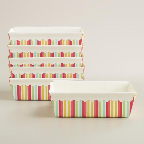 Striped Paper Brownie Pans, Set of 6
