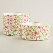 Strawberry Paper Bundtform Pans, Set of 4