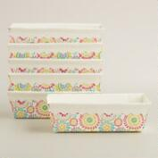 Floral Paper Loaf Pans, Set of 6