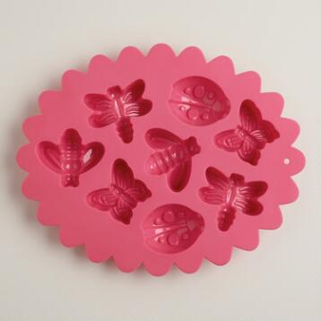 Bug and Butterfly Scalloped Silicone Baking Mold