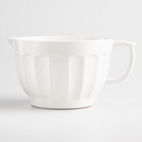 White Melamine Batter Bowl
