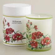 Boxed Hibiscus and Mangosteen Floral Tumbler Candle