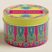 Sweet Papaya Maria Tin Candle