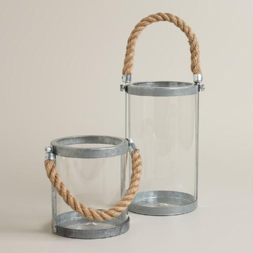 Galvanized Hurricane Lanterns