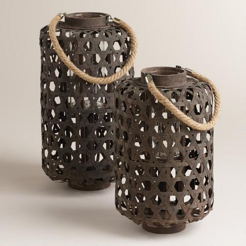 Dark Bamboo Lanterns