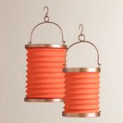 Orange Fabric Folding Lanterns