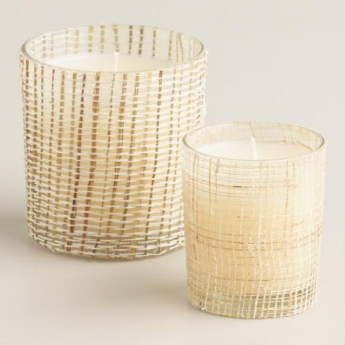 Natural Fiber Wrapped Citronella Candles
