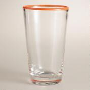 Orange Rimmed Tumblers, Set of 4