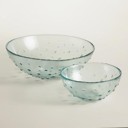 Recycled Green Dot Bowls