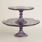 Purple Glass Marcella Cake Stands