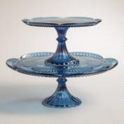Blue Glass Marcella Cake Stands