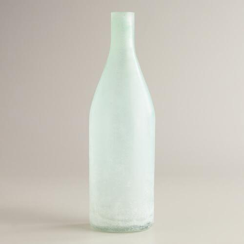 Sea Glass Bottle Vase