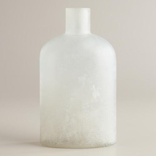 Wide Sea Glass Bottle Vase