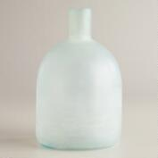 Large Wide Sea Glass Bottle Vase