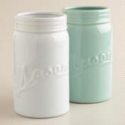 Large Mason Jar Vases, Set of 2