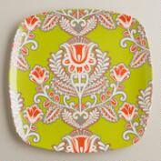 Green Summer Goddess Waterfront Plates, Set of 2