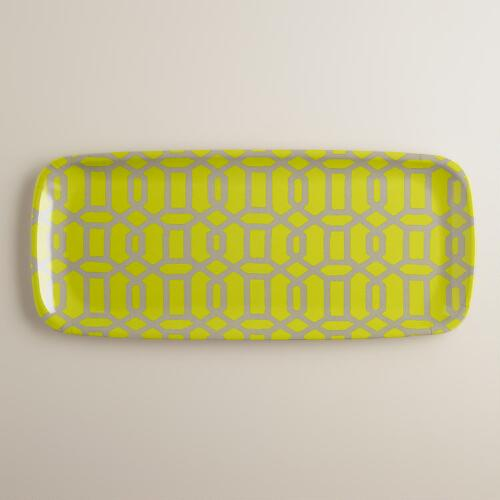 Geometric Window Print Platter