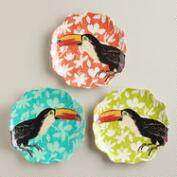 Toucan Salad Plates, Set of 3