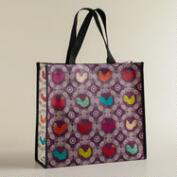 Rooster Print Reusable Tote