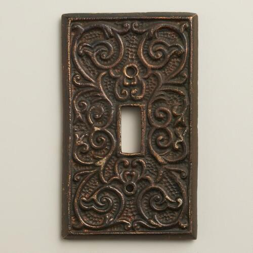 Scroll Print Switch Plate Cover