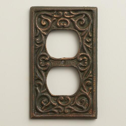 Scroll Print Outlet Plate Cover