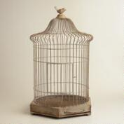Gray Antique Iron Birdcage