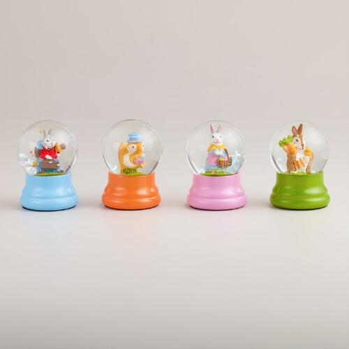 Easter Water Globes, Set of 4