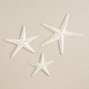 Wooden Starfish with Jute, Set of 3