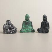 Mini Buddha Resin Statues, Set of 3
