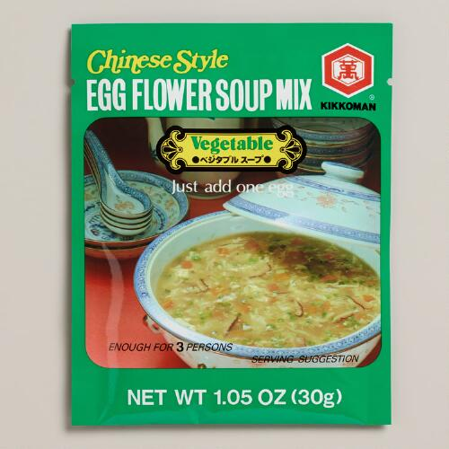 Kikkoman Egg Flower Corn Soup Mix, Set of 12