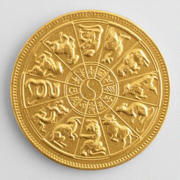 Steenland Zodiac Chocolate Medallion