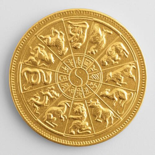 Steenland Zodiac Chocolate Medallion, Set of 6