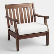 Wood St. Martin  Occasional Chair with Cushion