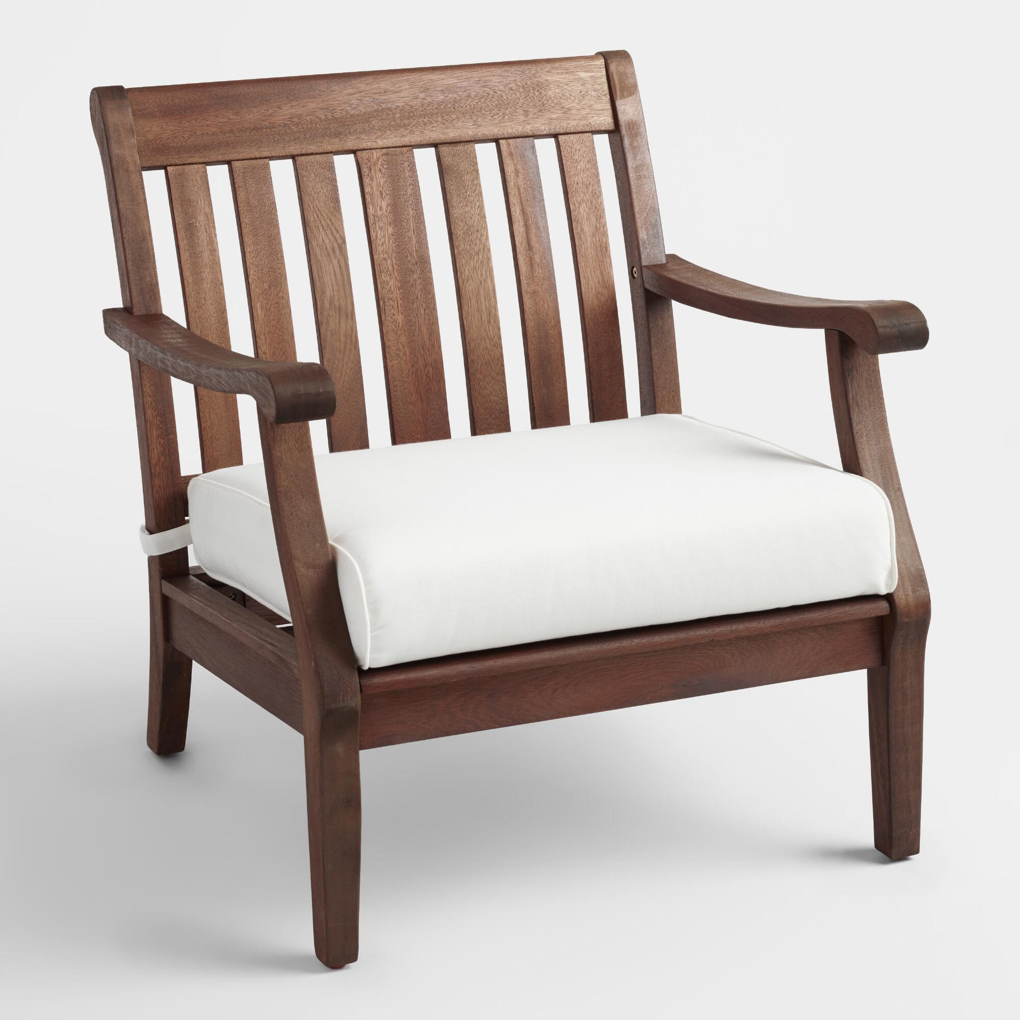 Wood st martin occasional chair with cushion world market for Occasional furniture