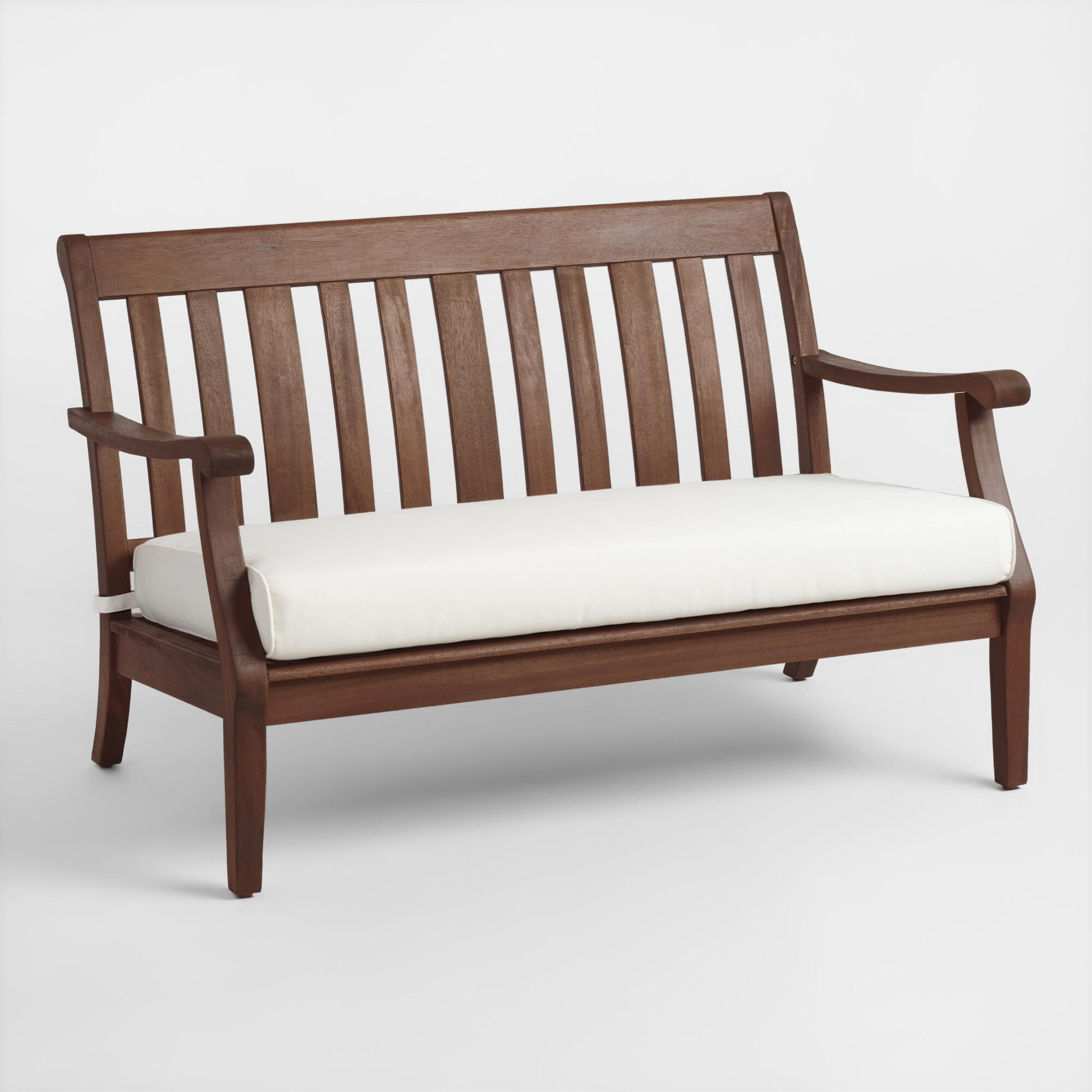 Wood St Martin Occasional Bench With Cushion World Market