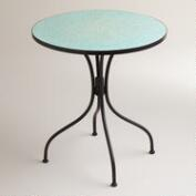Aqua Blue Cadiz Mosaic Bistro Table