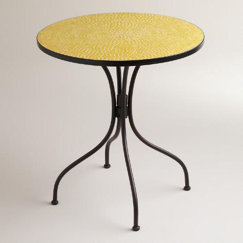 Yellow Cadiz Mosaic Bistro Table