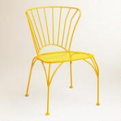 Golden Rod Yellow Cadiz Metal Chairs, Set of 2