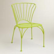 Apple Green Cadiz Metal Chairs, Set of 2