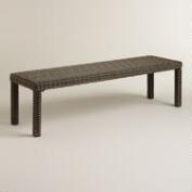 Solano All-Weather Wicker Dining Bench