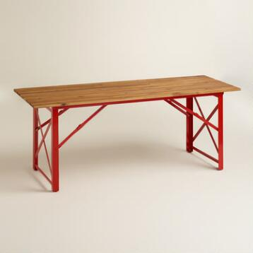 Red Beer Garden Dining Table