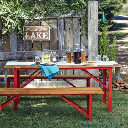 Red Beer Garden Dining Table World Market