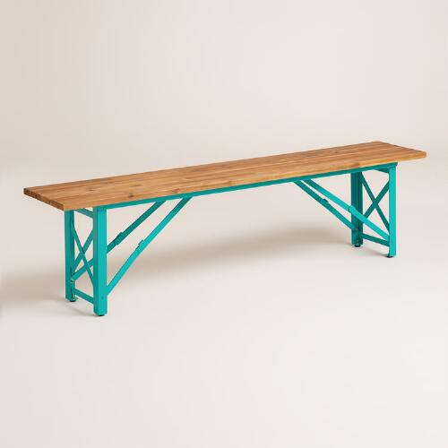 Blue Beer Garden Dining Bench