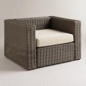 Formentera All-Weather Wicker Occasional Chair with Cushion