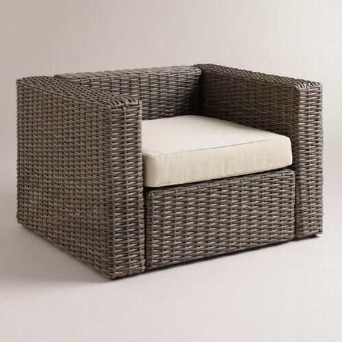 All-Weather Wicker Formentera Outdoor Chair with Cushion