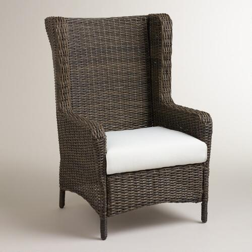 Himara All-Weather Wicker Wingback Chair