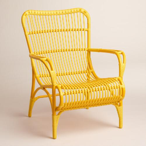 Yellow Hanalei Occasional Chairs, Set of 2