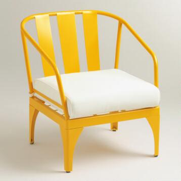 Yellow Palm Cove Occasional Chair
