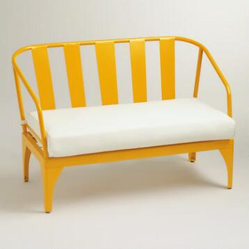 Yellow Palm Cove Occasional Bench
