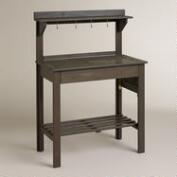 Gray Wood Potting  Bench